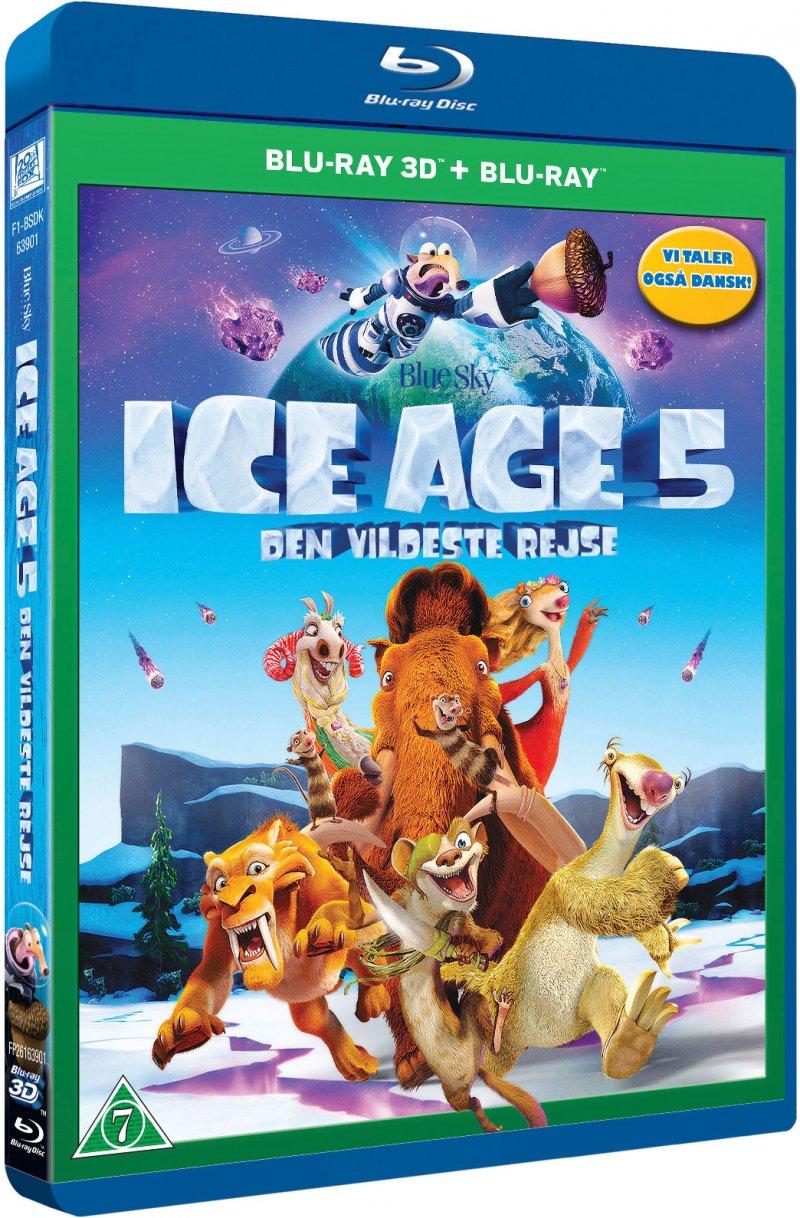 Image of   Ice Age 5: Den Vildeste Rejse (3d + 2d Blu-ray) -