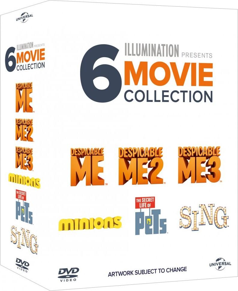 Billede af Minions // Kæledyrenes Hemmelige Liv // Grusomme Mig // Grusomme Mig 2 // Grusomme Mig 3 // Syng - DVD - Film