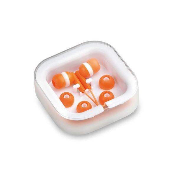Billede af In-ear Høretelefoner Med Ledning Inkl. Ekstra Puder - Orange Hvid