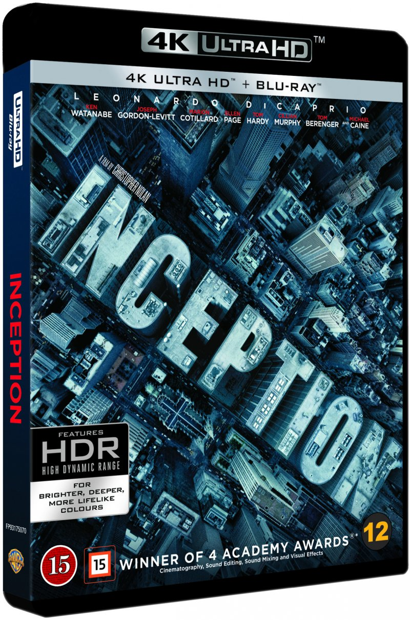 Image of   Inception - 4K Blu-Ray