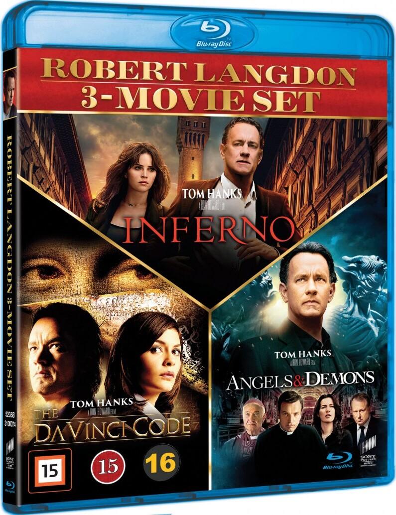 Billede af Inferno // The Da Vinci Code // Engle Og Dæmoner - Blu-Ray