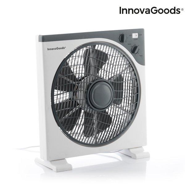 Image of   Innovagoods - Gulvventilator - 30 Cm - 50w - Hvid Grå