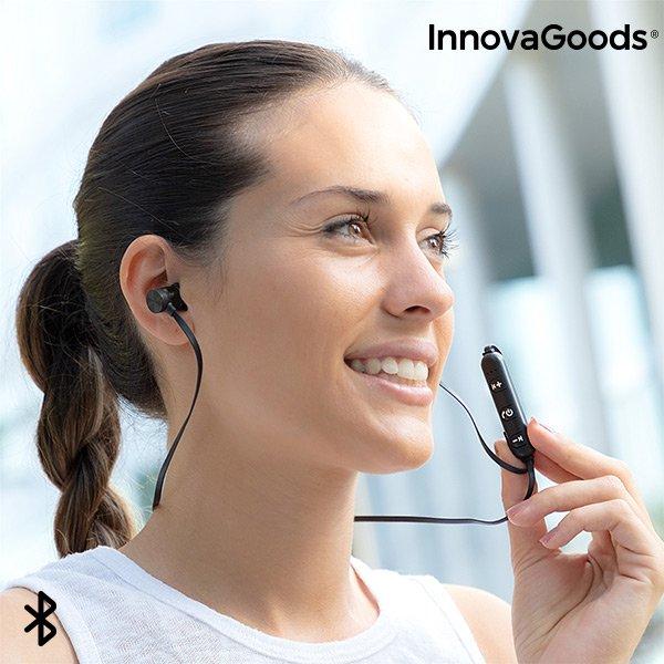 Billede af Innovagoods - Magnetiske Trådløse Sports Høretelefoner - 4 Timer - Sort