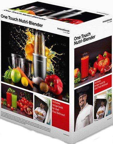 Image of   Innovagoods One Touch Nutri Blender Med Opskriftbog 600w - Grå