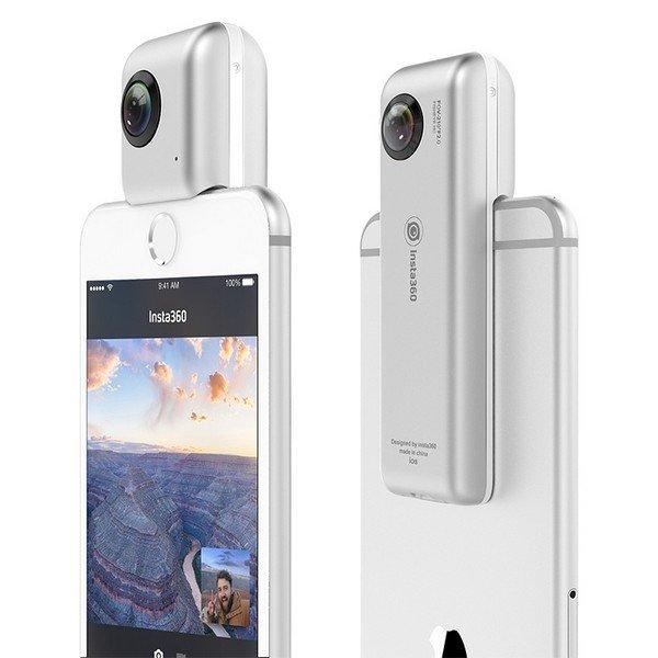 Image of   Insta360 - 360º Kamera Til Smartphone Inkl. Vr-briller - Micro Sd Ios - Sølv