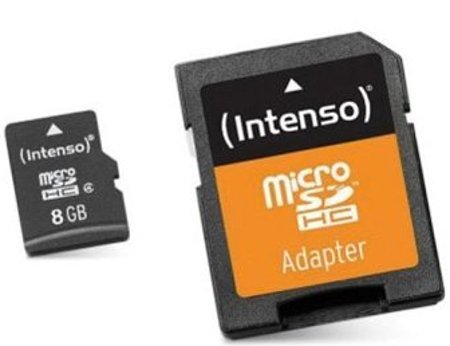 Image of   Intenso - Micro Sd Kort Med Adapter - 8gb Class 10