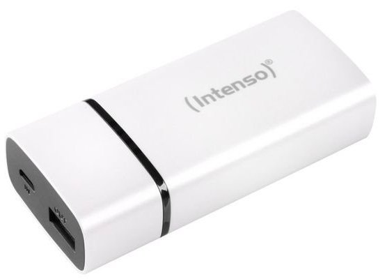 Image of   Intenso - Powerbank Med 5200 Mah - Inkl. Micro Usb Kabel - Hvid