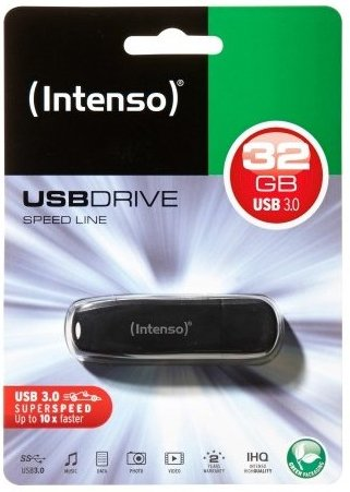 Image of   Intenso - Usb 3.0 Stik - 32gb - 70mb/s - Sort