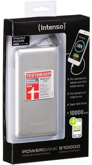 Image of   Intenso Usb Powerbank Med 10.000 Mah - Sølv