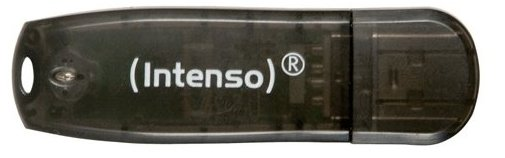 Image of   Intenso - Usb Stik - 16gb - 28mb/s - Sort