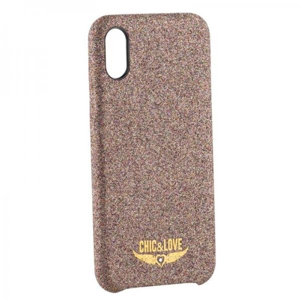 Image of   Iphone X/xs - Cover - Chic & Love - Glitter Kobber