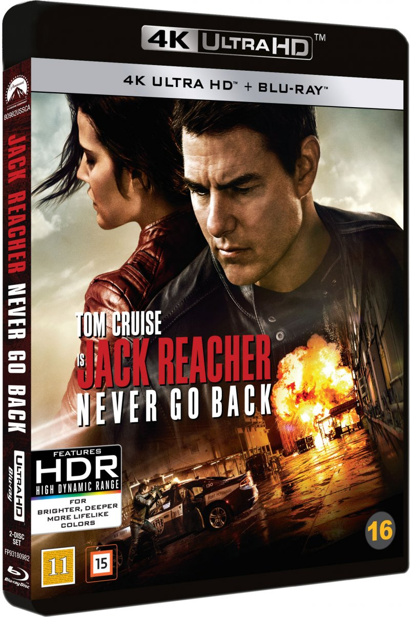 Jack Reacher 2: Never Go Back - 4K Blu-Ray