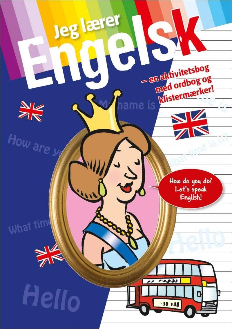 Jeg Lærer Engelsk - Med Ordbog Og Stickers - Bog