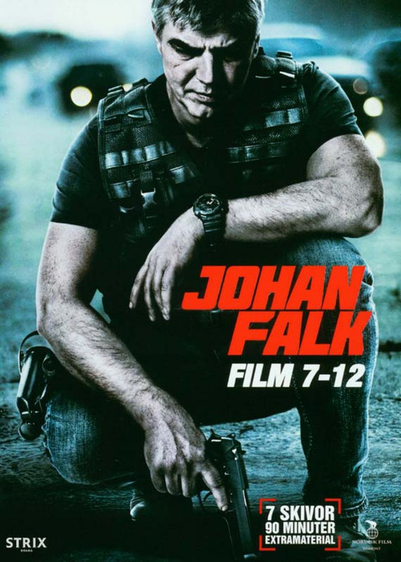 Johan Falk Boks - Film 7-12   - DVD - Tv-serie