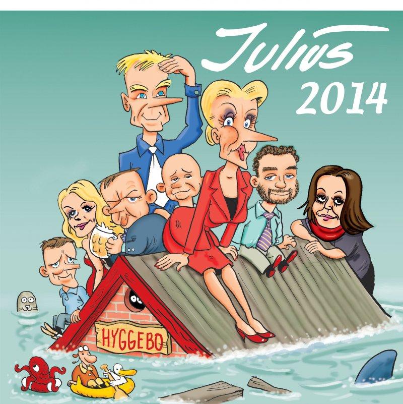Image of   Julius Tegninger 2014 - Jens Julius Hansen - Bog