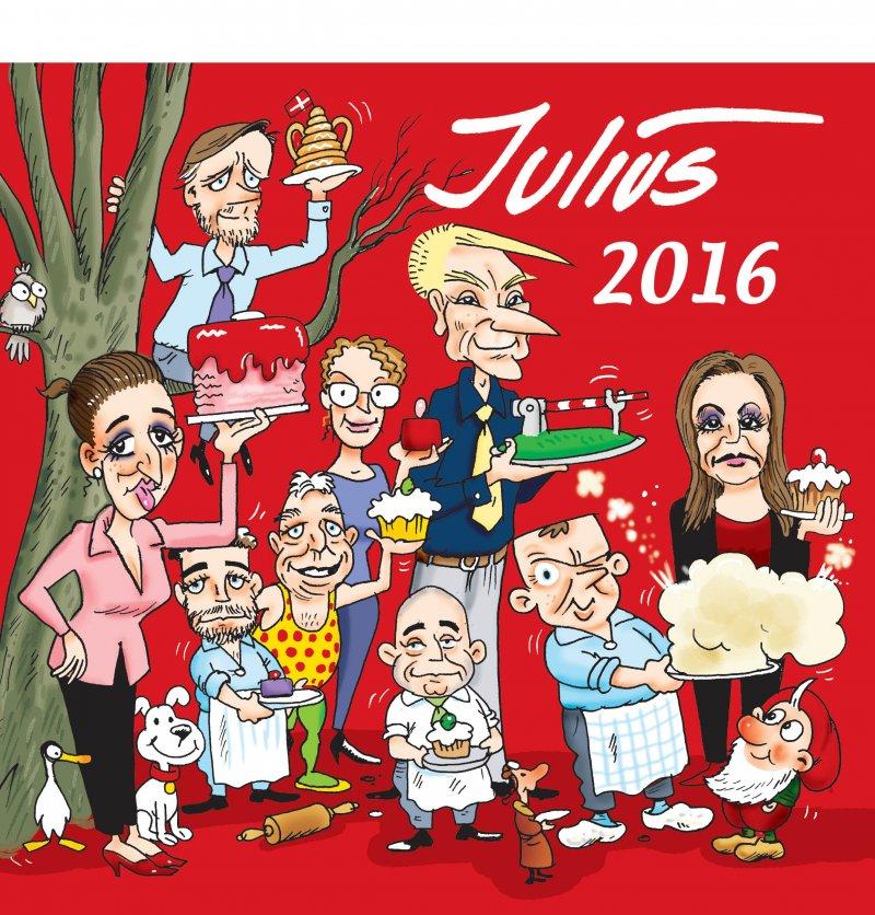 Image of   Julius Tegninger 2016 - Jens Julius Hansen - Bog
