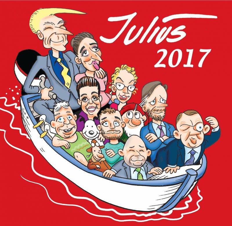 Julius Tegninger 2017 - Jens Julius Hansen - Bog