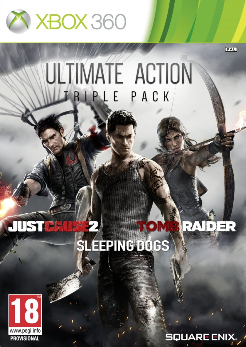 Just Cause 2, Sleeping Dogs & Tomb Raider Bundle - Xbox 360
