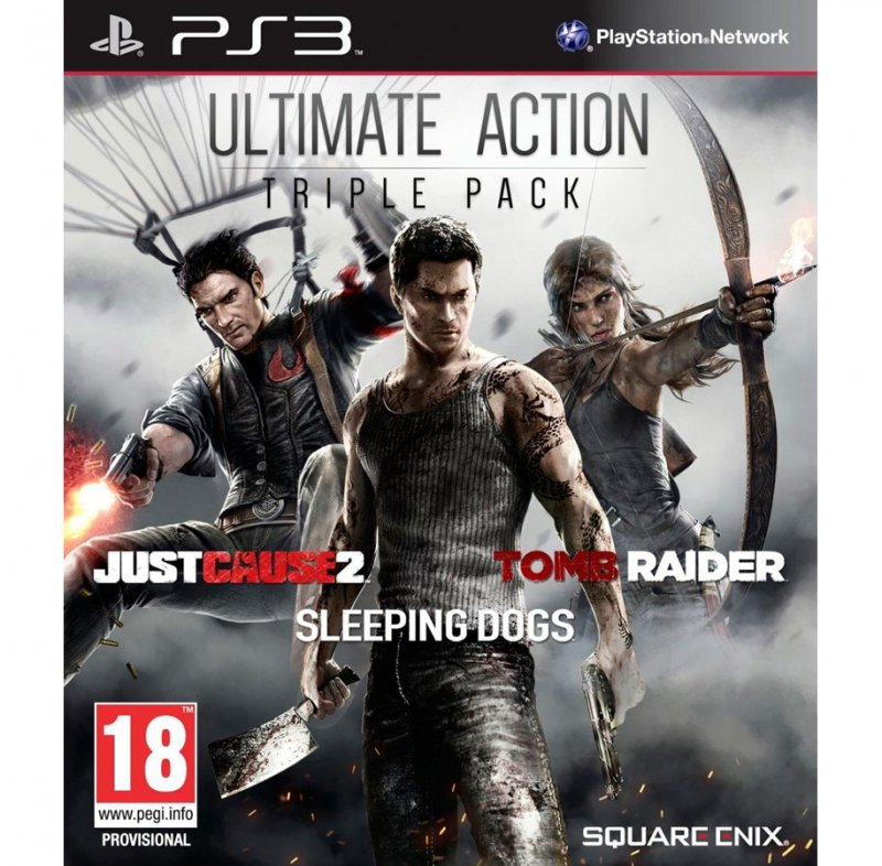 Image of   Just Cause 2, Sleeping Dogs & Tomb Raider Bundle - PS3