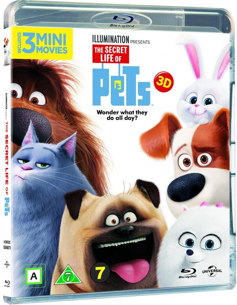 Image of   Kæledyrenes Hemmelige Liv / The Secret Life Of Pets - 3D Blu-Ray
