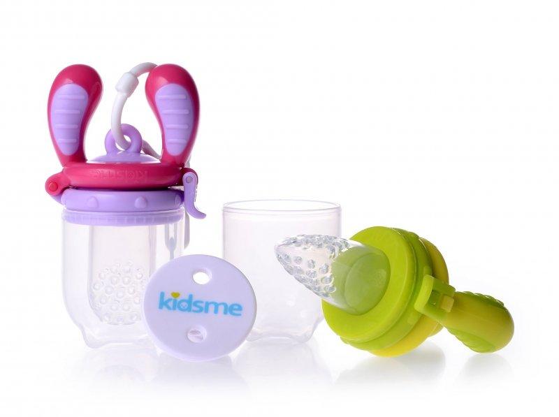 Image of   Kidsme Food Feeder - Startpakke - Lime/pink