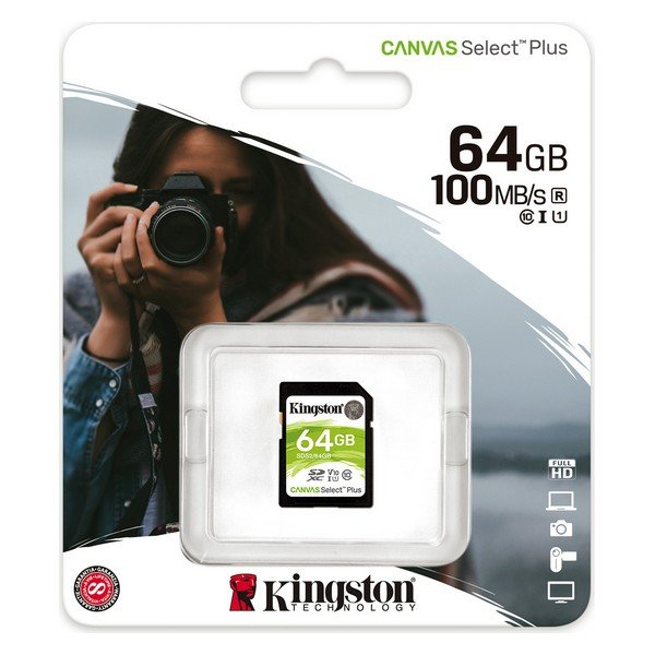 Image of   Kingston Sd Kort - 64gb - Class 10 Uhs-i