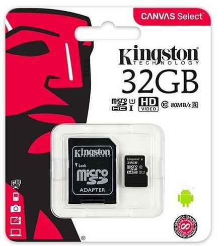 Image of   Kingston Sdcs/32gb Micro Sd-kort Class 10 Uhs-i