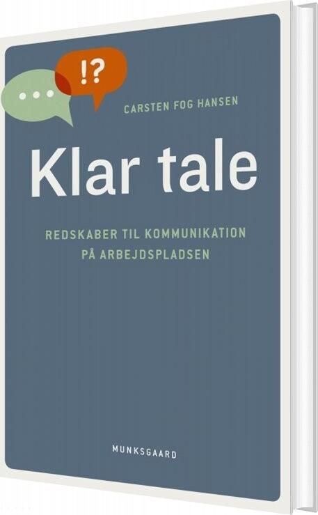 Image of   Klar Tale - Carsten Fog Hansen - Bog
