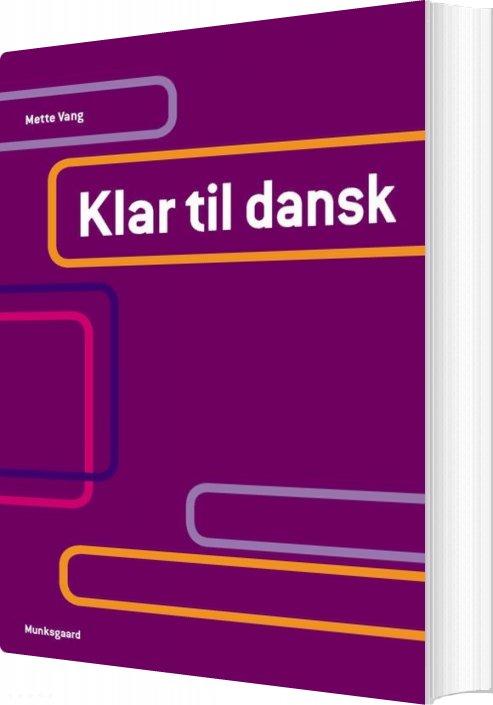 Billede af Klar Til Dansk - Mette Vang - Bog