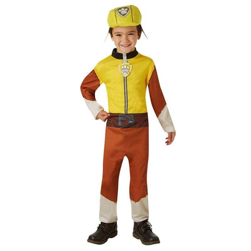 Image of   Paw Patrol Kostume - Rubble - 3-4 år