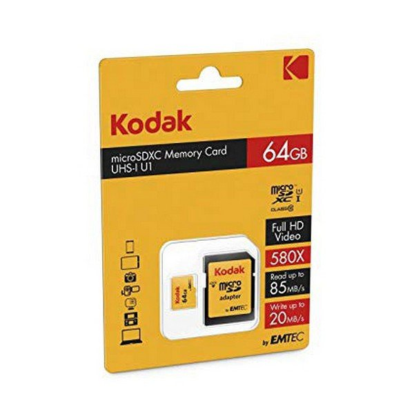 Image of   Kodak Micro Sd Kort - 64gb - Uhs-i U1