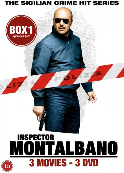 Image of   Kommissær Montalbano - Box 1 - Episode 1-3 - DVD - Tv-serie