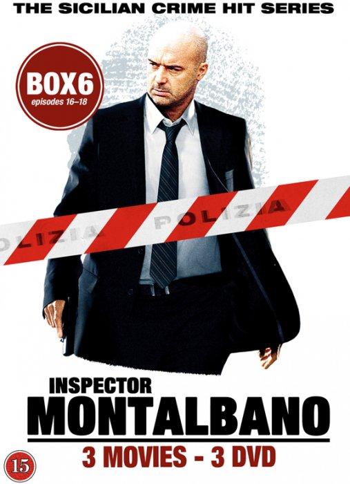 Image of   Kommissær Montalbano - Box 6 - Episode 16-18 - DVD - Tv-serie