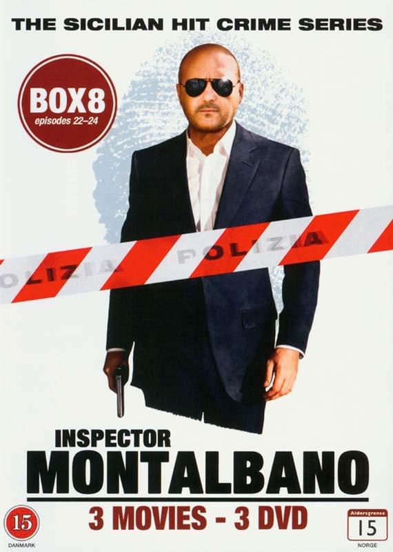 Image of   Kommissær Montalbano - Box 8 - Episode 22-24 - DVD - Tv-serie