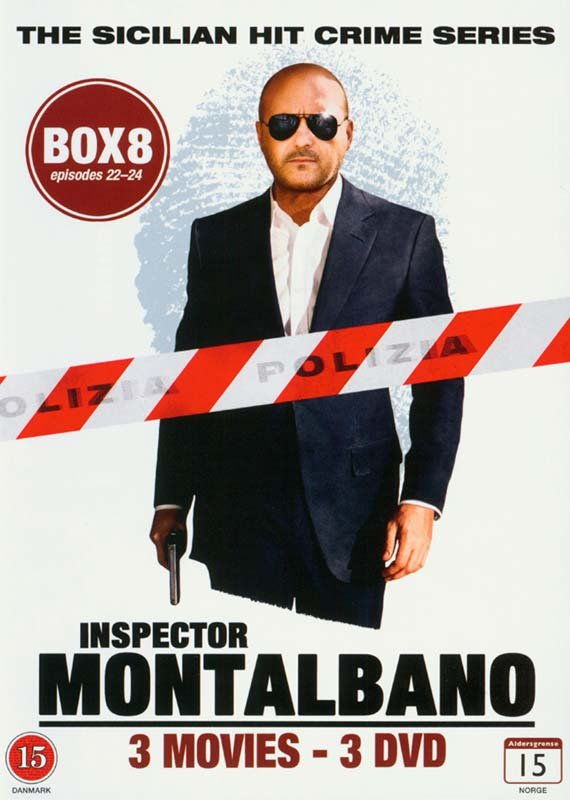 Image of   Kommissær Montalbano - Box 8 - Episode 22-24 - DVD - Tv-serie