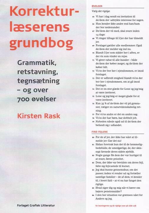 Billede af Korrekturlæserens Grundbog - Kirsten Rask - Bog