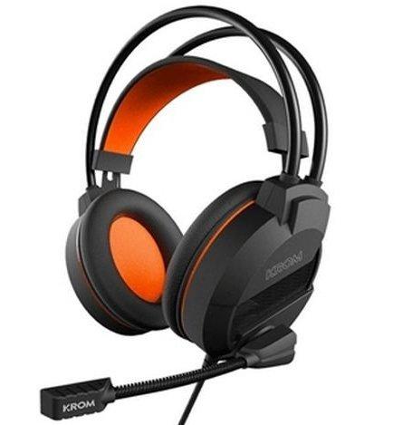 Image of   Krom Khami - Gaming Høretelefoner Til Ps4 Mac Pc Xbox One - Orange Sort
