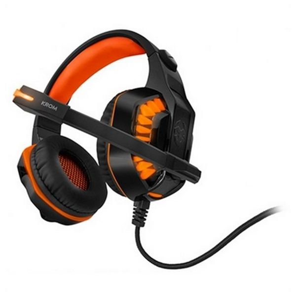 Image of   Krom Konor - 7.1 Gaming Høretelefoner Med Usb Til Ps4 Mac Pc - Orange Sort