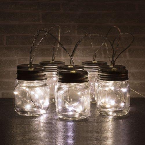 Glas Krukker Med Led Lys 8 Stk Køb Billigt Her
