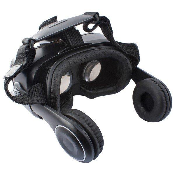 """Image of   Ksix - Virtual Reality Vr Briller Med Høretelefoner - 4,7-5,7"""" Skærm - Sort"""