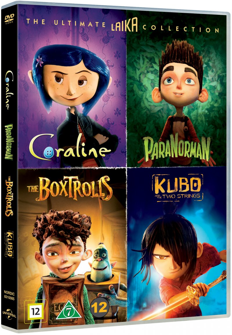 Image of   Coraline // Kubo And The Two Strings // Paranorman // æsketroldene - DVD - Film