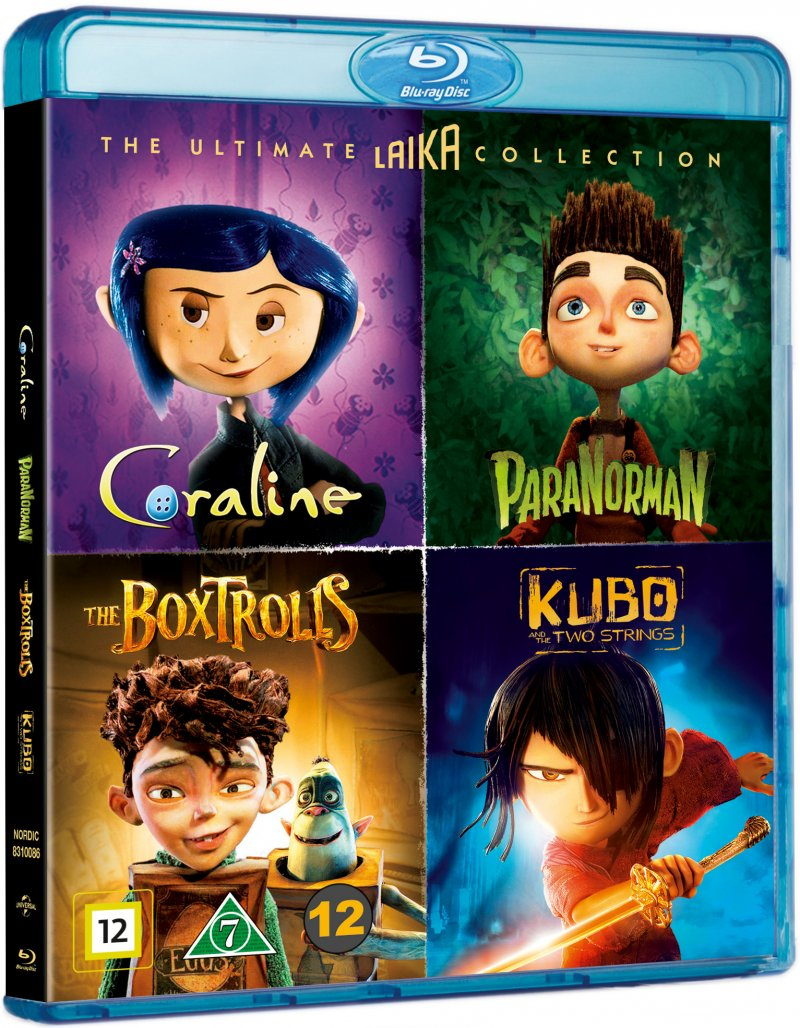 Image of   Coraline // Kubo And The Two Strings // Paranorman // æsketroldene - Blu-Ray