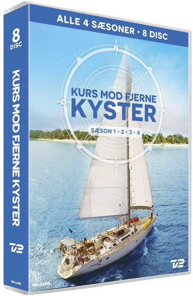 Kurs Mod Fjerne Kyster - Sæson 1-4 Boks - DVD - Tv-serie