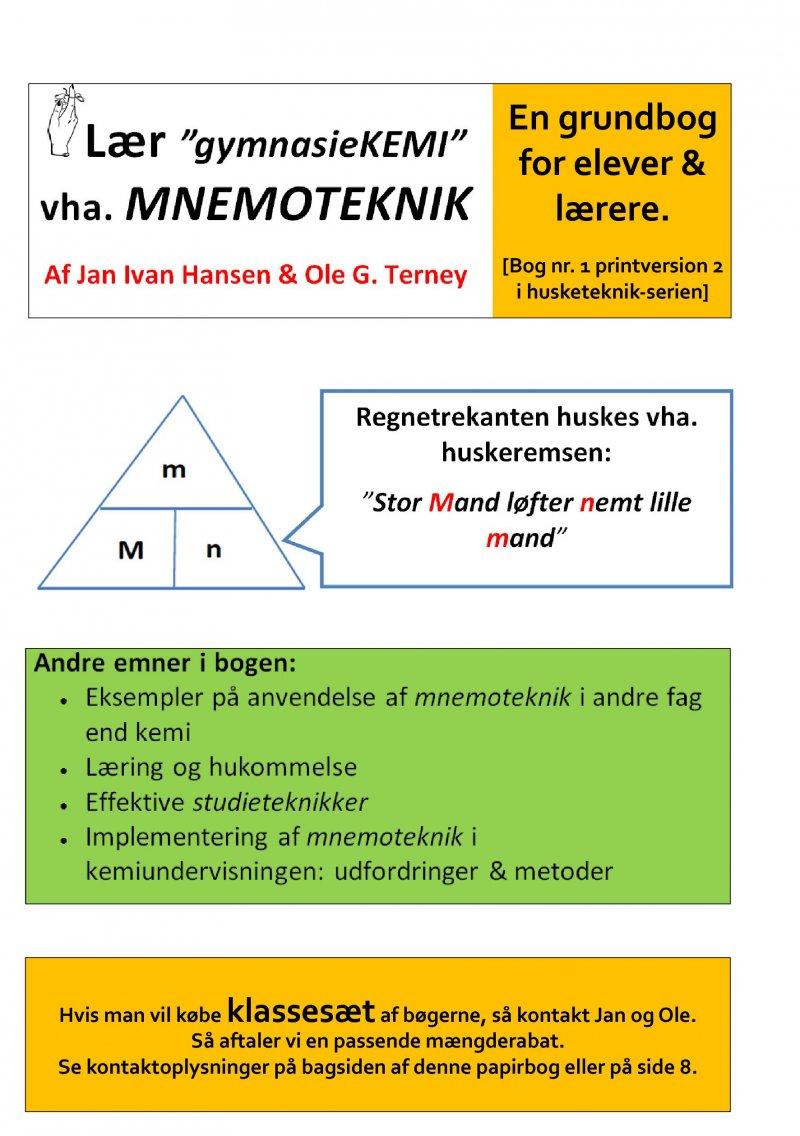 Hypermoderne Lær Gymnasiekemi Vha Mnemoteknik Af Ole G. Terney → Køb bogen MV-06