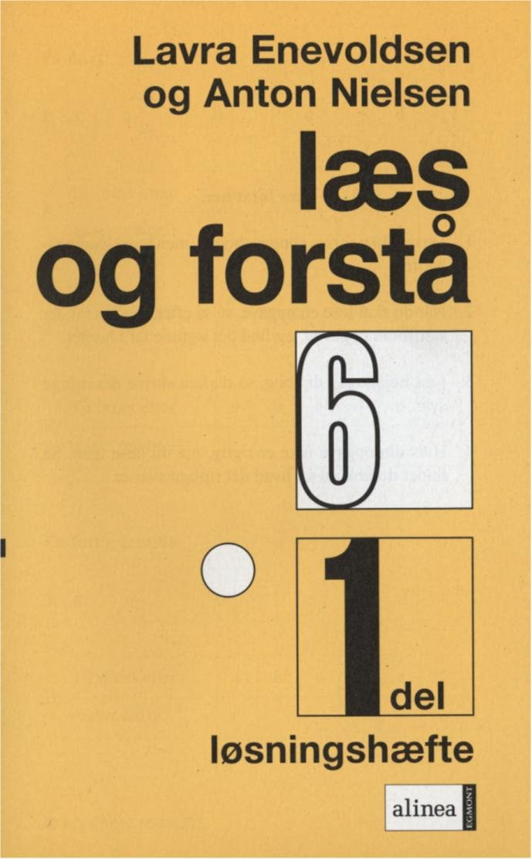 Læs Og Forstå 6, 1 Løsningshæfte - Lavra Enevoldsen - Bog