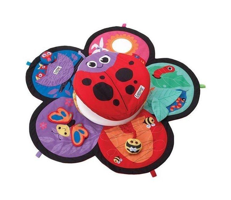 la maze, lamaze legetøj, baby legetæppe, baby aktivitetstæppe, lege tæppe, baby tæppe, mariehøne,