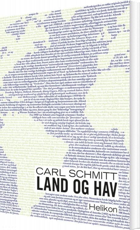 Land Og Hav - Carl Schmitt - Bog