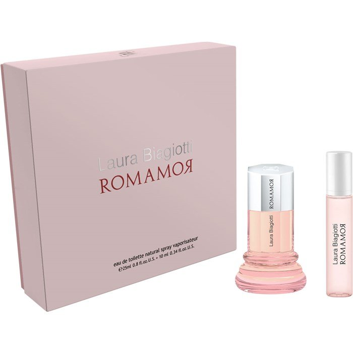 Image of   Laura Biagiotti Parfume - Romamor Edt 25 Ml + Purse Spray 10 Ml - Gavesæt