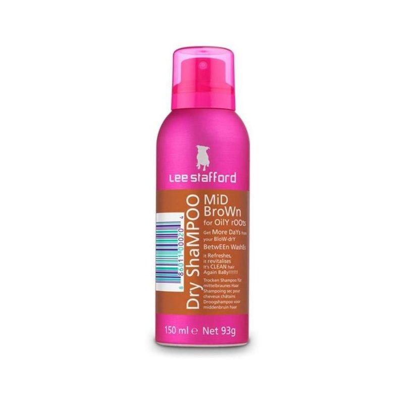 Lee Stafford - Dry Shampoo Mid Brown 150 Ml