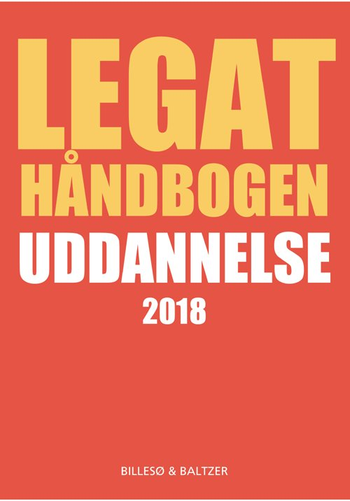 Image of   Legathåndbogen Uddannelse 2018 - Per Billesø - Bog